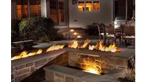 Trough Match Light Fire Pit Insert