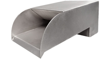 6 Inch Wide Smooth Flow Radius Stainless Steel Scupper