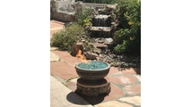 Napoli Round ribbed concrete fire bowl