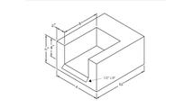U-Shaped Scupper Dimensions