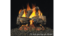 RealFyre Charred Oak Reduced Depth Indoor Gas Logs are available in 16 to 19 inches wide sets.