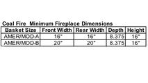 Americana Basket Minimum Fireplace Dimensions