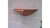 Wall Mounted Copper Bowl Installed