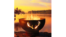 Antlers Gas Burning Fire Pit 36 Inches
