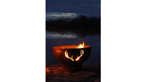 Antlers Gas Burning Fire Pit 3