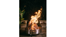 Fire Surfer Gas Fire Pit Burning
