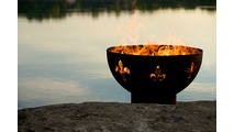 Fleur de Lis Gas Burning Fire Pit 36 Inches