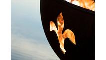 Fleur de Lis Gas  Fire Pit Cutout Close Up