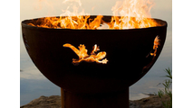 Kokopelli Gas Burning Fire Pit 36 Inches