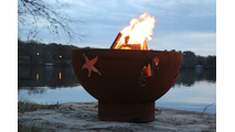Sea Creatures Gas Burning Fire Pit 36 Inches