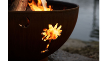 Tropical Moon Gas Burning Fire Pit- 2