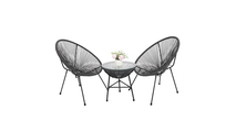 Outdoor All-Weather Patio Steel Furniture Set in Gray