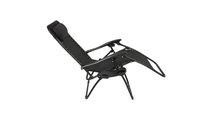 Outdoor Recliner Patio Lounge Chairs with Saucer Black