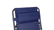 Outdoor Recliner Patio Lounge Chairs with Saucer Blue
