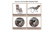 Outdoor Recliner Patio Lounge Chairs with Saucer Brown