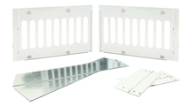 """5-5/8"""" Tall x 8"""" Stainless Steel Paver Vent Kit"""