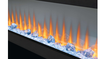 Glass & Red Flame Detail