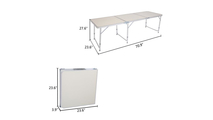 Outdoor White Aluminum Alloy Folding Table