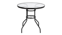 Yard Toughened Glass Round Table
