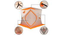 Cold Resistance Wind And Rain Protection Tent