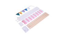 Pink and White Stripes Children Teepee Tent