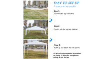 Portable White Canopy Tent