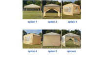 Two Windows Practical Waterproof Right-Angle Folding Tent