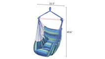 Blue Cotton Canvas Hanging Chair