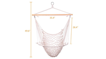 2 Pcs Hanging Rope Chair
