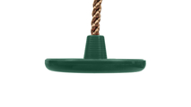Green Climbing Rope Swing with Disc
