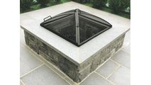 Any Size Low Profile Square Hinged Fire Pit Screen Carbon Steel