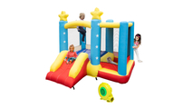 Star Inflatable Jumping Castle with Slide with Blower