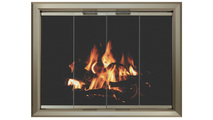 4 Sided Overlap Fit Lancer Zero Clearance Fireplace Door In Pweter