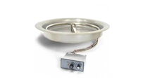 HPC 13 Inch Round Bowl Push Button/Flame Sense Fire Pit Insert For Small Propane Tanks