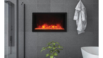 """Extra Slim Indoor or Outdoor Built-In only 40"""" Electric Fireplace"""
