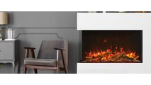 40 Inch TruView XL Extra Tall 3 sided Indoor/Outdoor Electric Indoor Fireplace