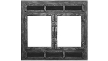 Chesapeake ZC Refacing shown in Industrial Black finish With 1520 Louver Style