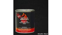 Metallic Black Brush On Stove Paint 1 Pint