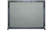 Denali Fireplace Screen shown in Charcoal powder coat finish