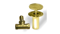 Straight gas valve with cover and key
