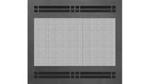 Cascade Fixed Screen Direct Vent Refacing shown in Matte Black powder coat finish with STO1523 louver design