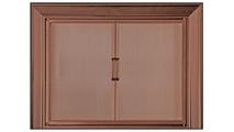 Decor Twin Panel Mesh Door In Old Copper