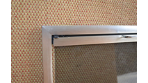 Rainbow Door In Satin Nickel Corner Detail
