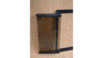 Flat Black Rainbow Door With Bronze Glass