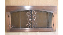 Antique Copper Climbing Rose Fireplace Door