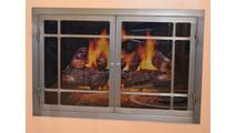 Natural Iron Hearthworks Fireplace Door