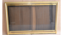 Polished Brass Mystique Fireplace Door