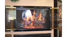 Mystique Fireplace Door Bifold Doors Open