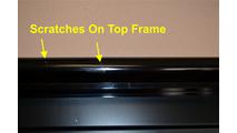 Mystique Fireplace Door Open Frame Scratches