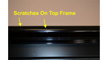 Mystique Fireplace Door Open Frame Scratches